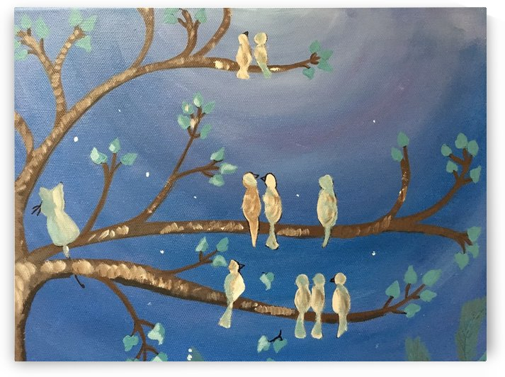 Birds on a limb by Ladylsle's Artspace