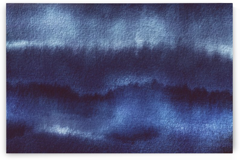 Indigo Watercolor Abstract  by Leah McPhail