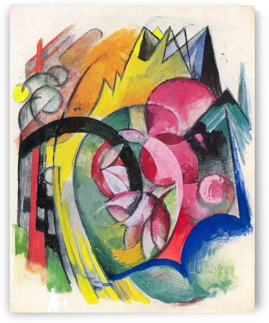 Small composition II by Franz Marc by Franz Marc