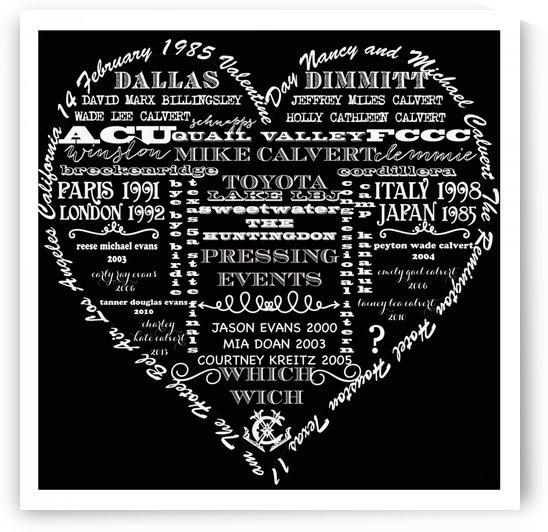 VALENTINE: Typeography B-W by Nancy Calvert