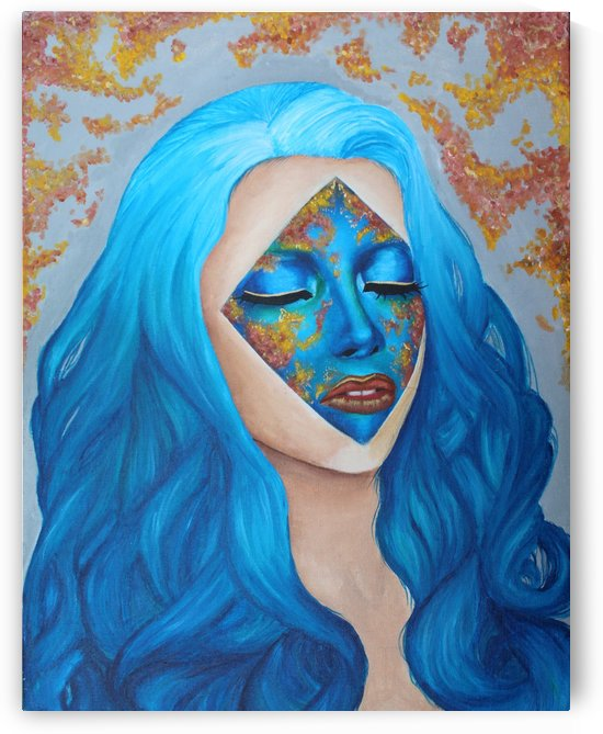 Blue Cherry Blossom by Marietou Biteye