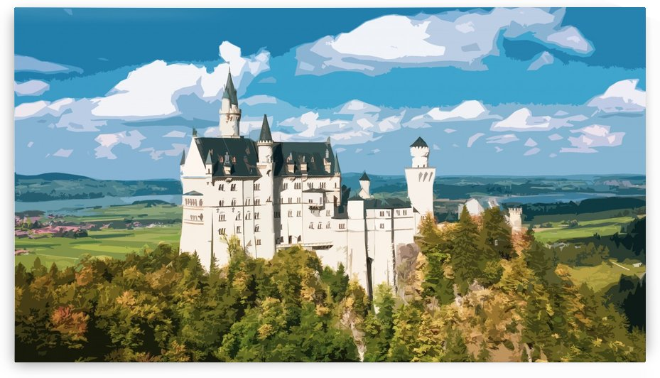 Neuschwanstein Castle poster by By the C Media