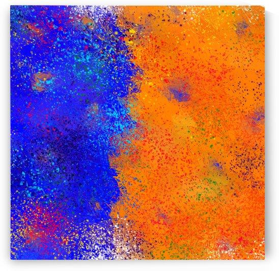 Seisnahorra - orange and blue balanced freedom by Cersatti Art
