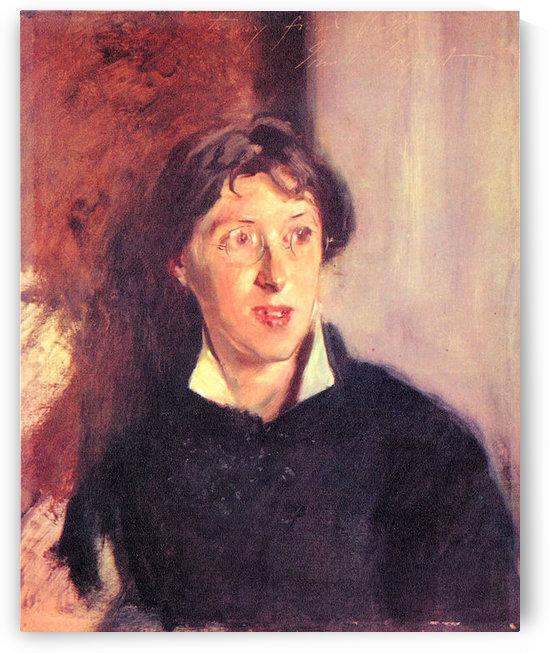 Portrait of Vernon Lee by John Singer Sargent by John Singer Sargent