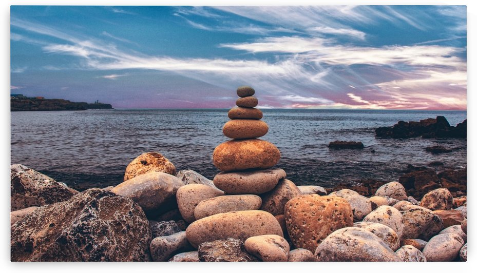 Rock balancing  by By the C Media