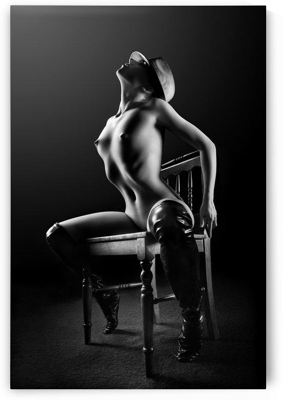 Nude woman on chair 2 by Johan Swanepoel