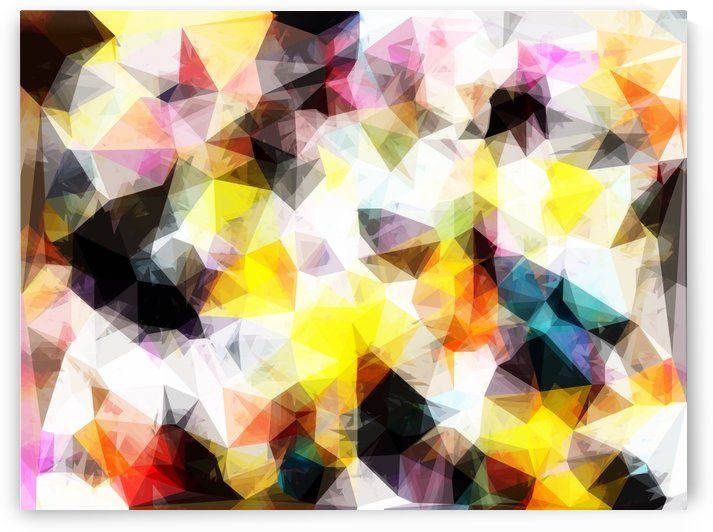 geometric triangle pattern abstract background in yellow brown pink by TimmyLA