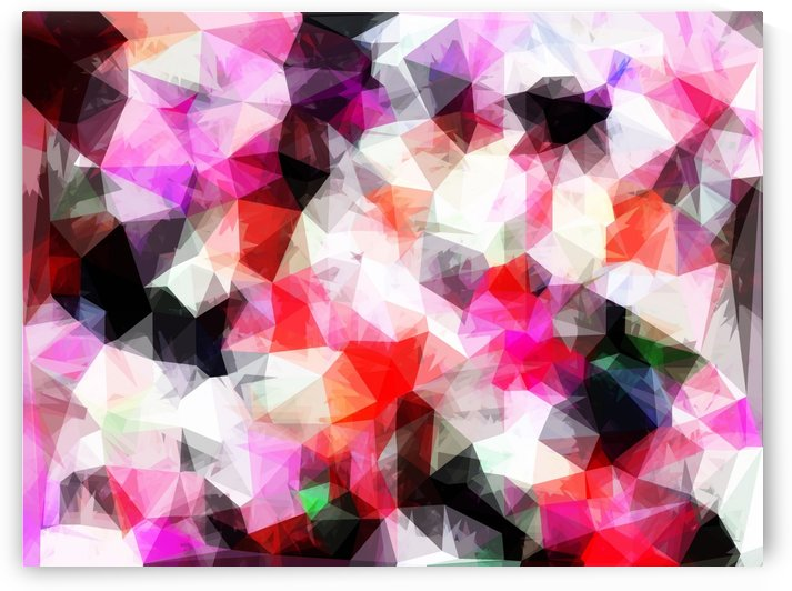 geometric triangle pattern abstract background in pink purple by TimmyLA