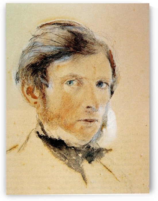 Self portrait, watercolour touched by John Ruskin