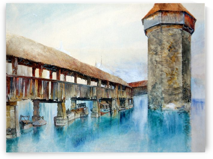 Kapellbrucke Lucerne by John Ruskin