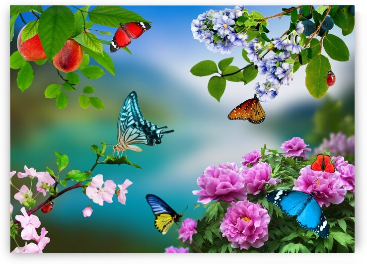 Holiday of life. Butterflies Flowers by Radiy Bohem