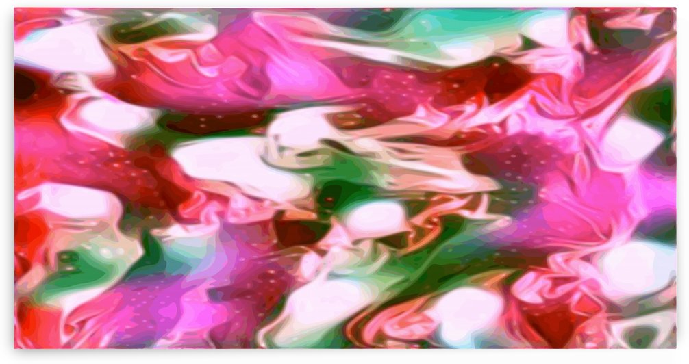 Paradise - multicolor swirls and spots large abstract wall art by Jaycrave Designs