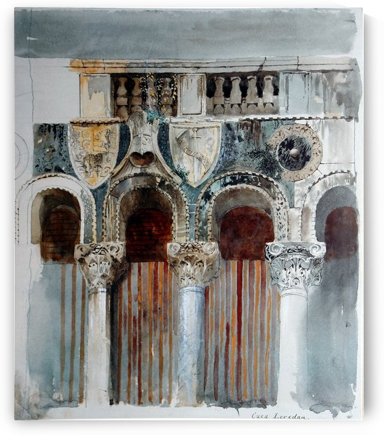 Study of the Marble Inlaying on the Front of the Casa Loredan by John Ruskin