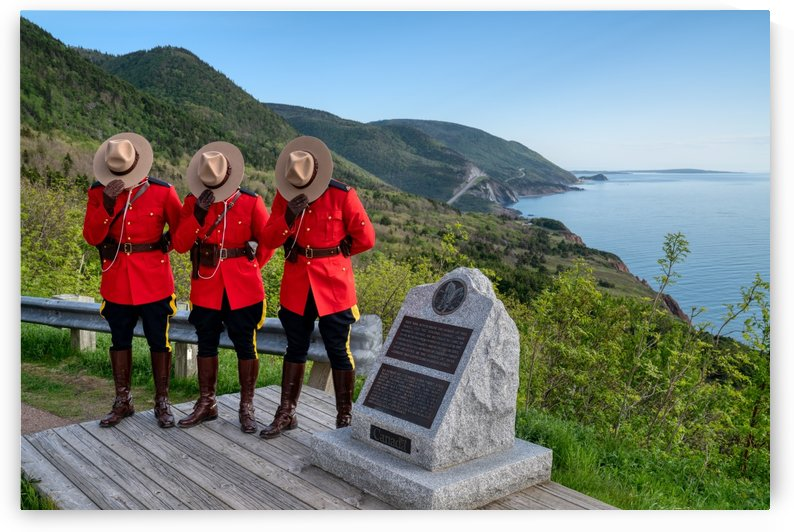 Respect and Honour - RCMP on French Mountain by Michel Soucy