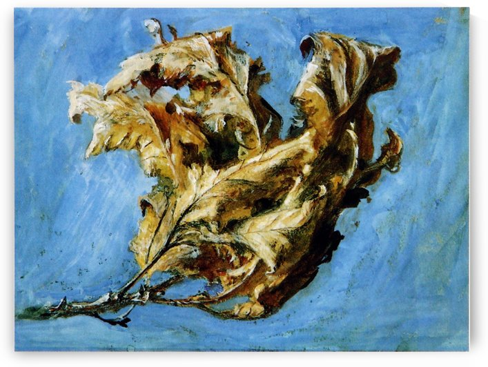 Fast sketch of withered oak by John Ruskin