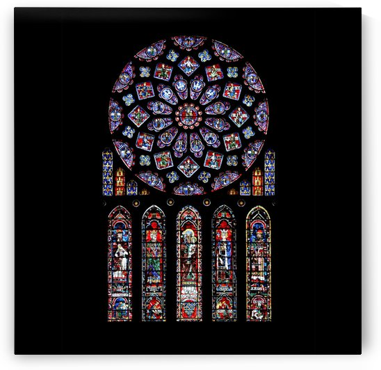 Chartres cathedral notre dame de paris amiens cath stained glass by Shamudy