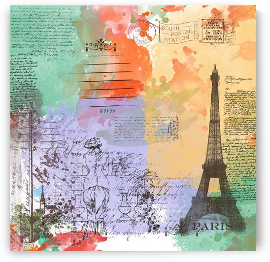 Scrapbook paris vintage france by Shamudy