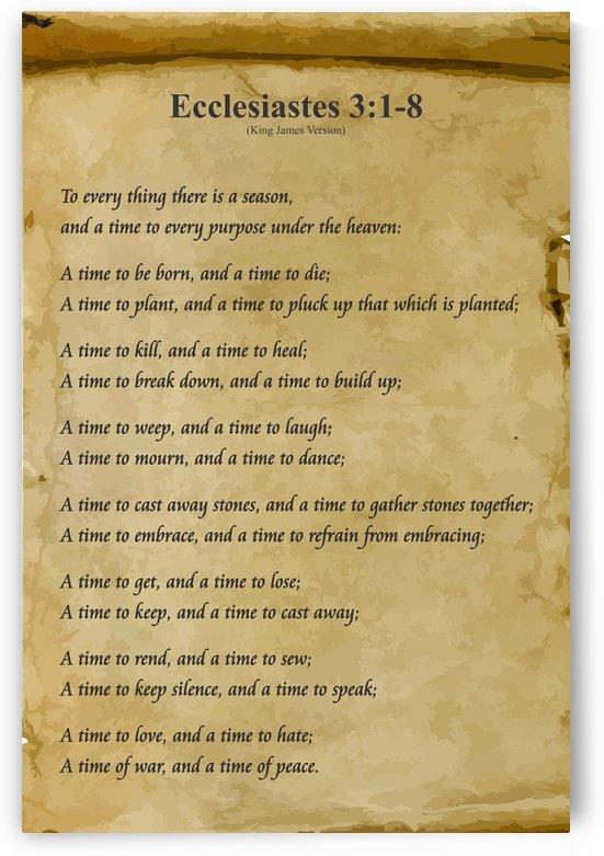 2-Ecclesiastes 3:1-8 by Daniel M  DeAbreu