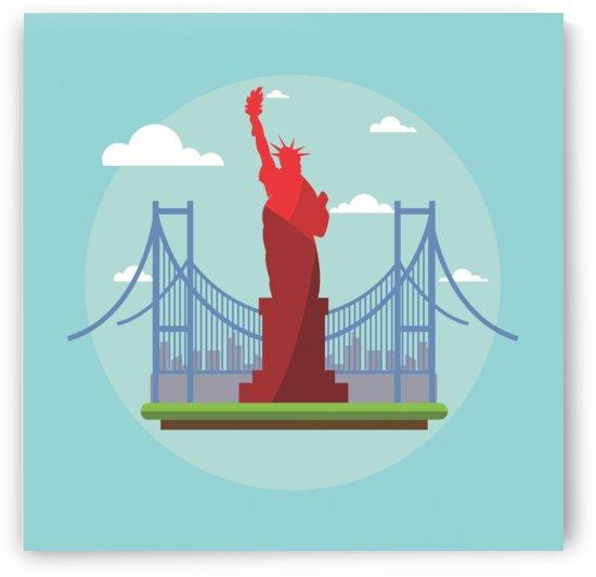 new york usa liberty landmark by Shamudy