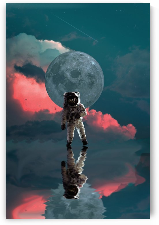 astronaut moon space nasa planet by Shamudy