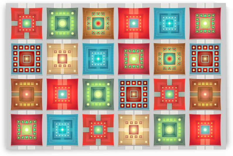 tiles pattern background colorful by Shamudy