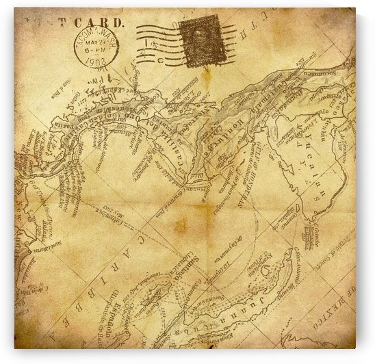 vintage map background paper by Shamudy