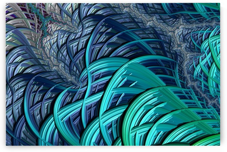 oceanic fractal turquoise blue by Shamudy