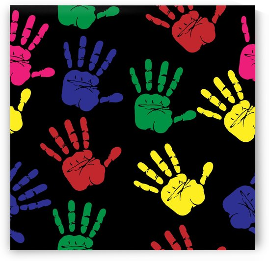 handprints hand print colourful by Shamudy