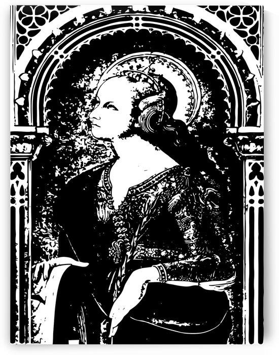 portrait lady vintage retro by Shamudy