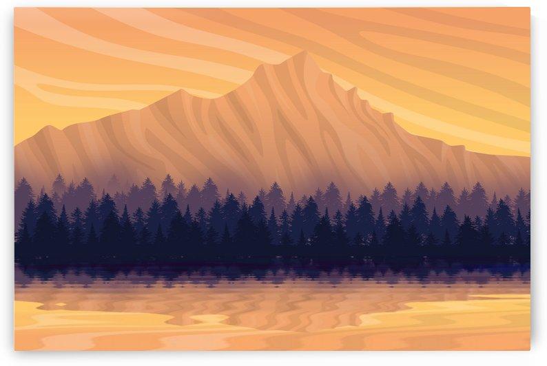 landscape nature mountains sky by Shamudy