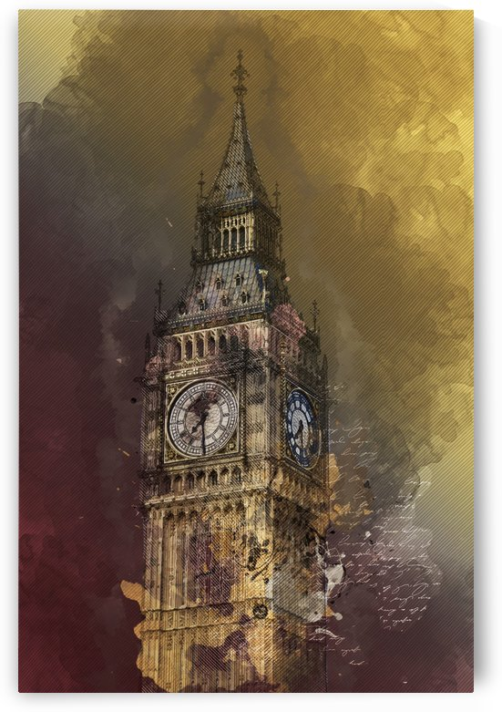 london big ben building by Shamudy