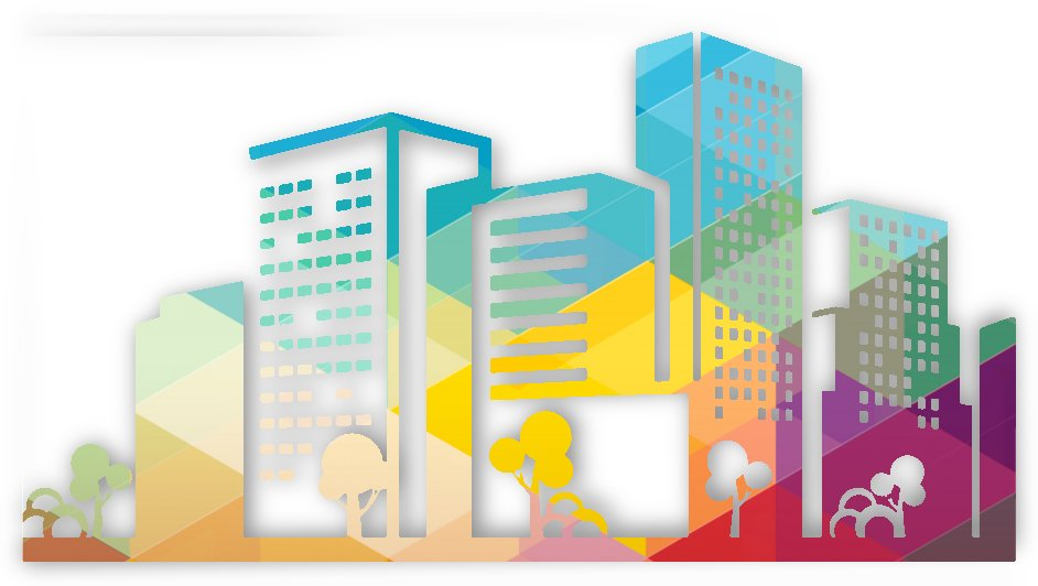 silhouette cityscape building icon color city by Shamudy