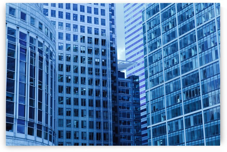 city blue building construction by Shamudy