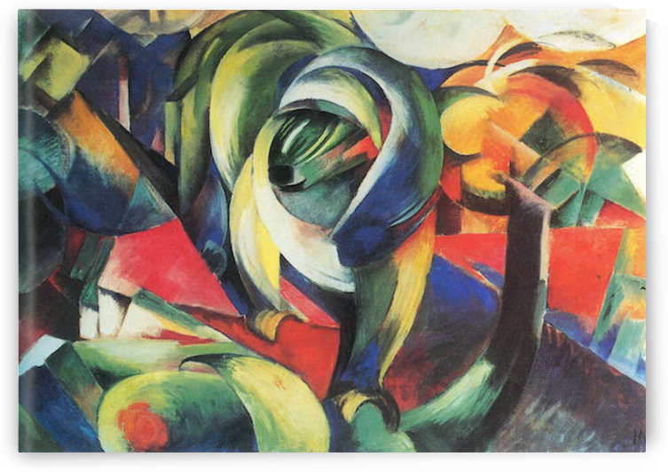 The Mandrill by Franz Marc by Franz Marc
