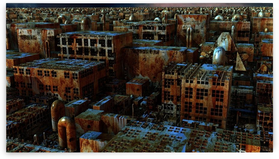 building ruins old industry by Shamudy