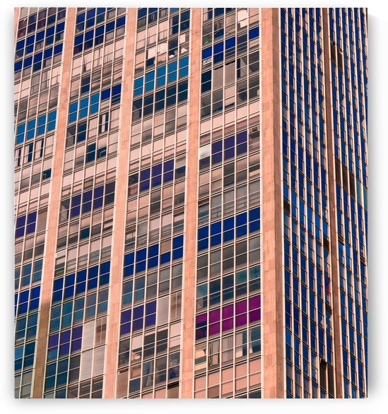 low angle photography of beige and blue building by Shamudy