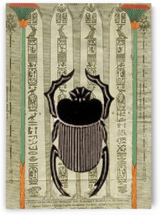 egyptian design beetle by Shamudy