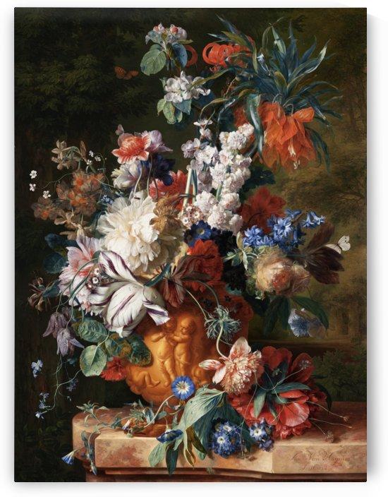 Bouquet Of Flowers In An Urn by Jan van Huysum by xzendor7