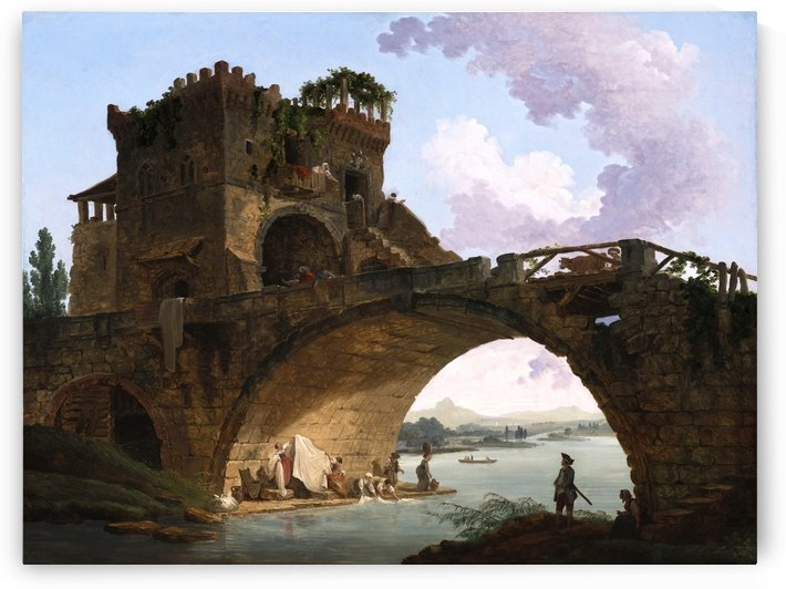 The Ponte Salario by Hubert Robert by xzendor7