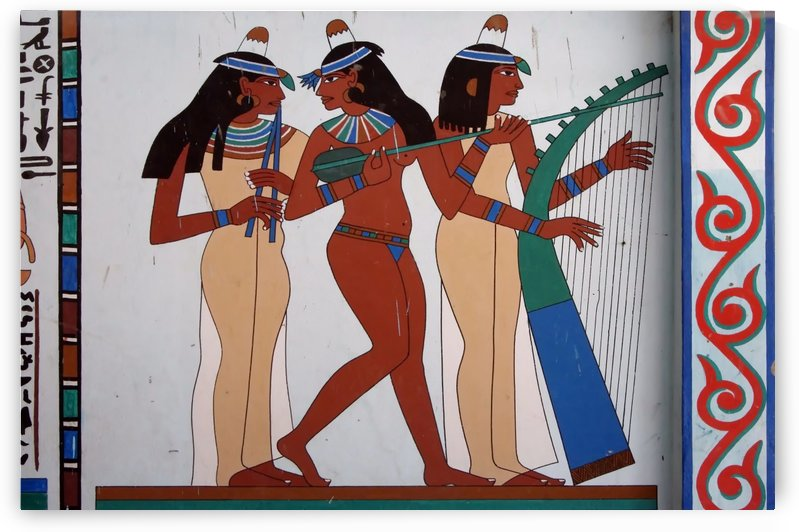 egypt fresco mural decoration by Shamudy