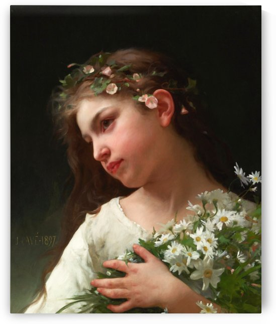 Girl with a Bouquet of Daisies by Jules Cyrille Cave by xzendor7