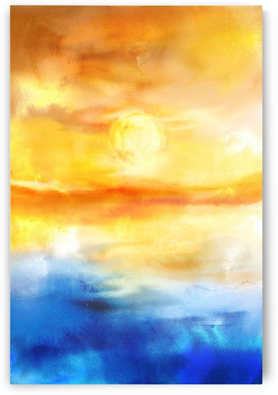 Abstract Warm Sunset I by Art Design Works