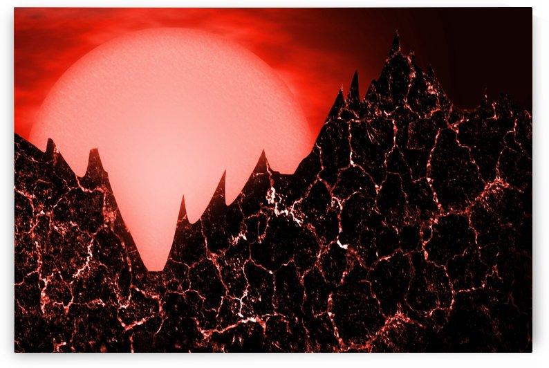 sci fi red fantasy futuristic by Shamudy