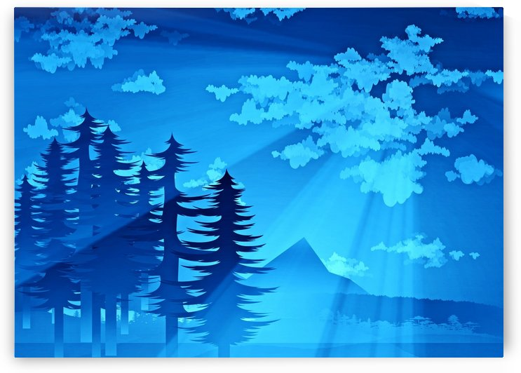 forest landscape pine trees forest  by Shamudy