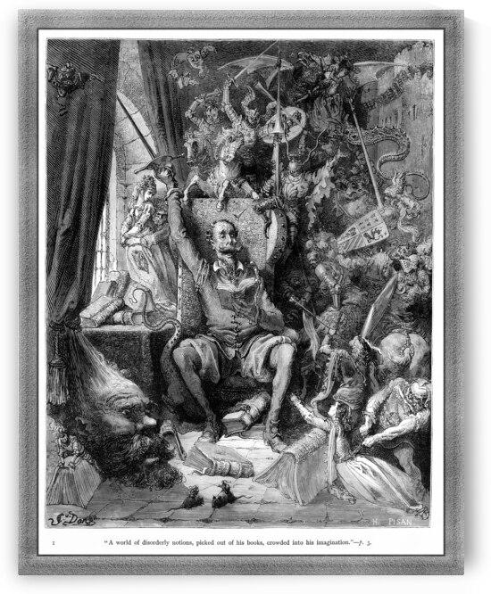 Miguel de Cervantes Don Quixote by Gustave Dore Old Masters Reproduction by xzendor7