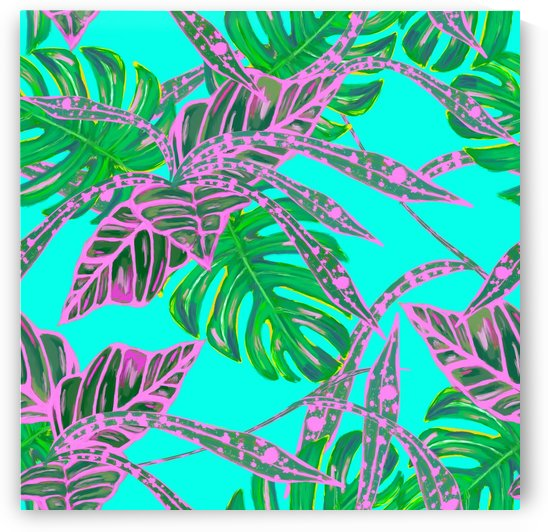 painting oil leaves reason pattern by Shamudy
