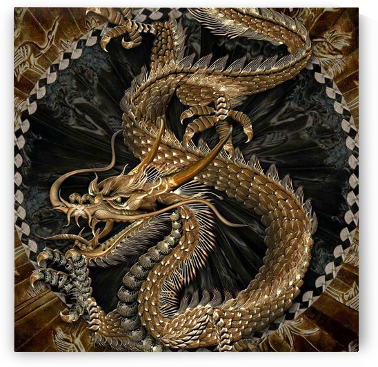 fantasy Dragon Pentagram by Shamudy