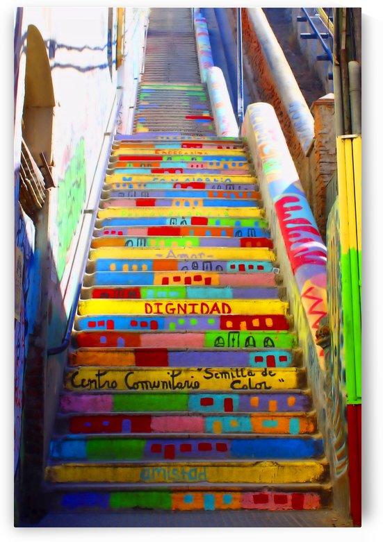 Stairway to Heaven Valparaiso Chile by Kurt Van Wagner