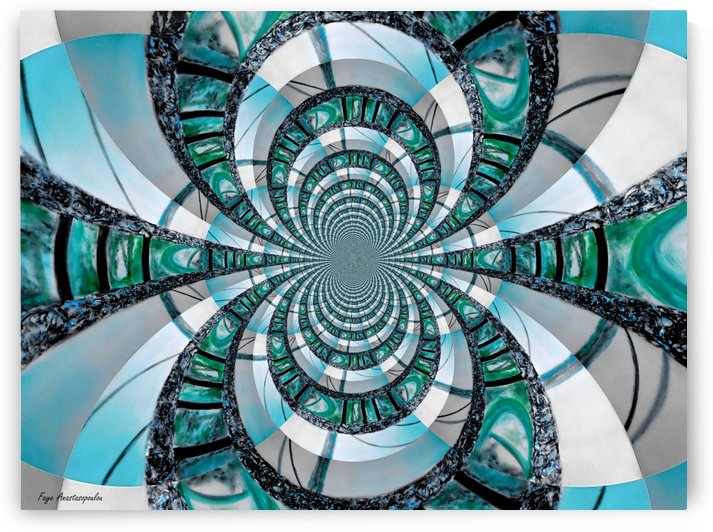 Infinity Teal by Faye Anastasopoulou