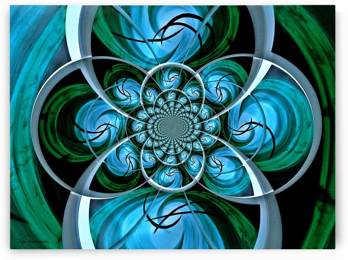 Ornament Vector Teal by Faye Anastasopoulou